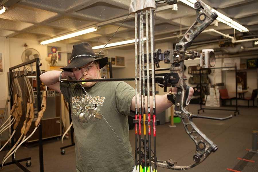Arm Dynamics patient shooting archery