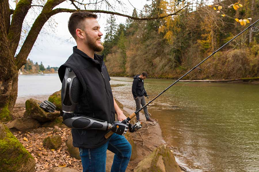 Arm Dynamics patient fishing in Oregon