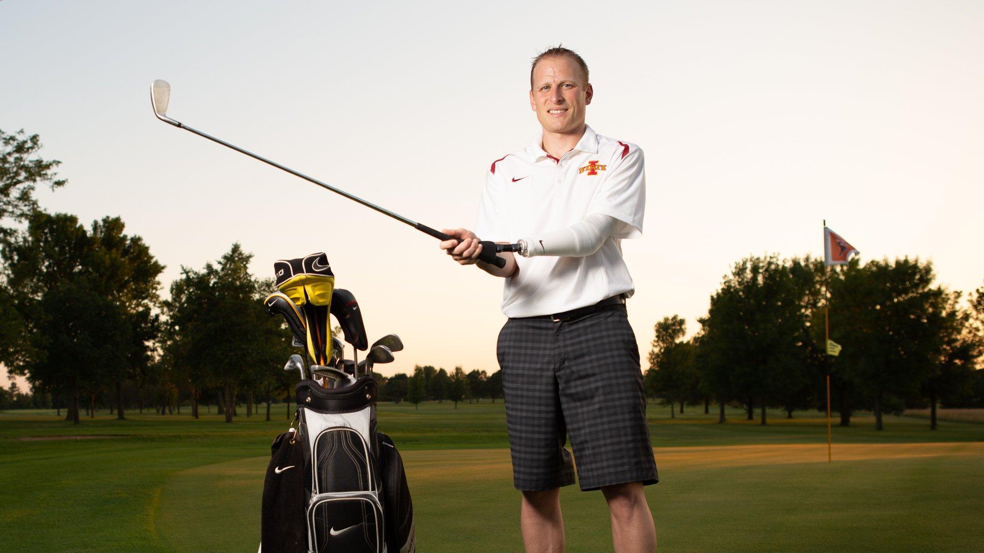 Custom golf prosthesis