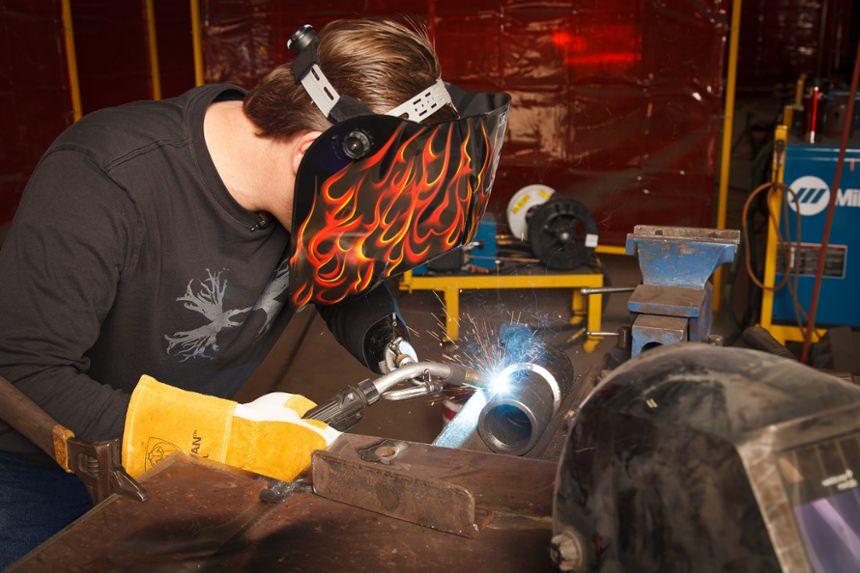 Arm Dynamics patient welding at work