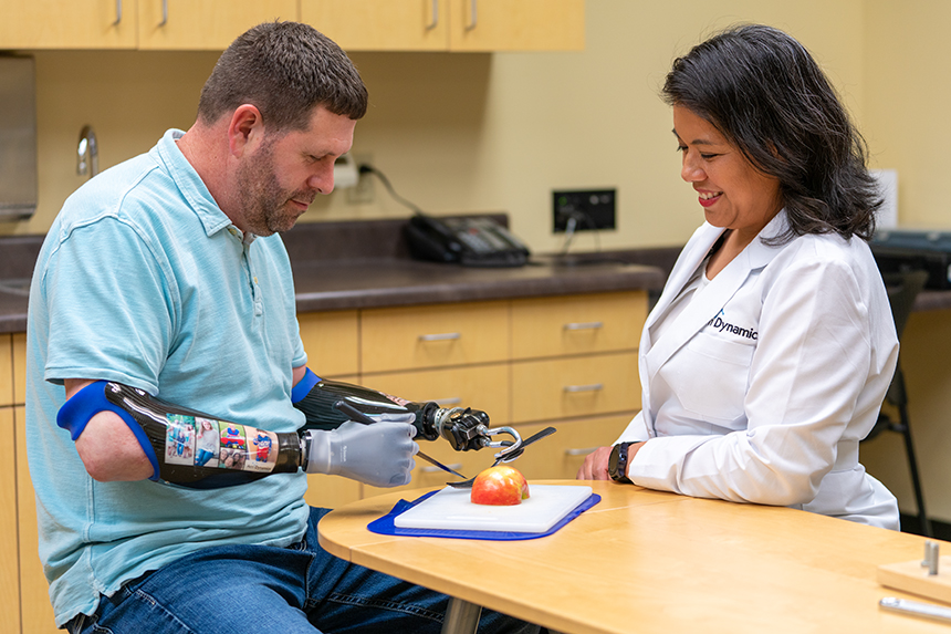 Jason Koger works with clinical therapy specialist
