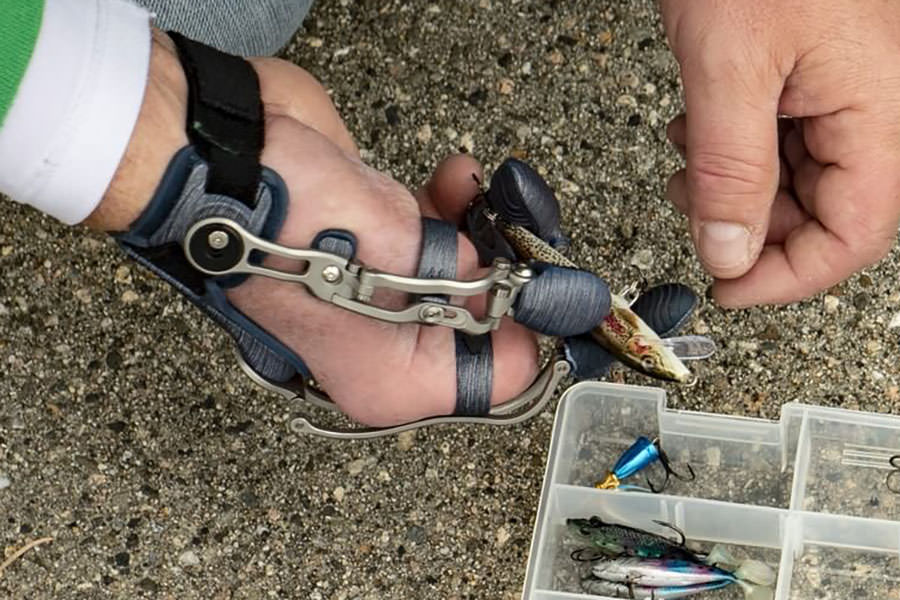 Naked Prosthetics MCP, PIP and Thumb Drivers with Fishing Tackle
