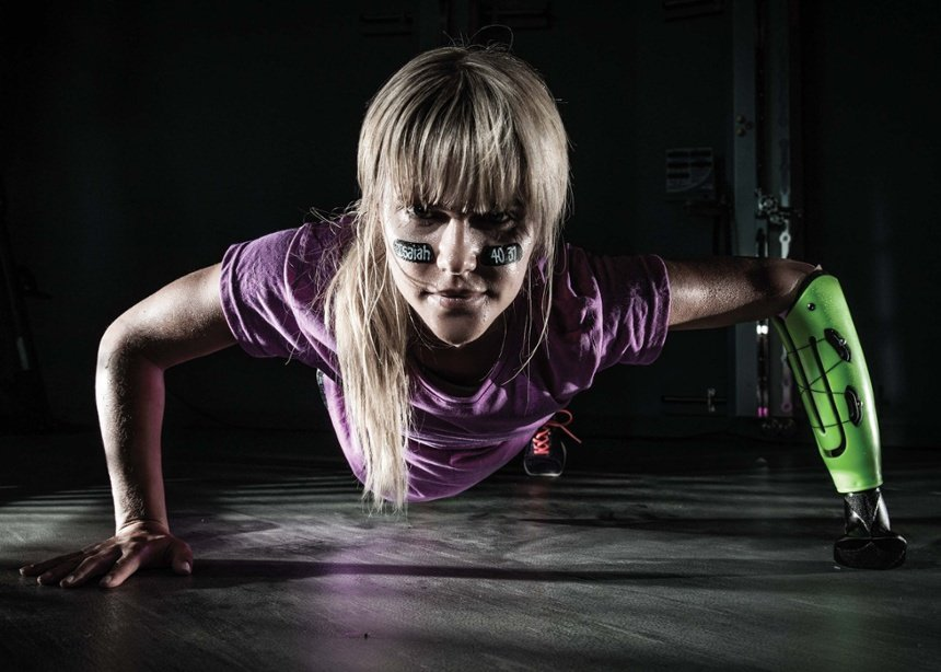Lauren Scruggs Below Elbow Amputee Workout Activity Specific